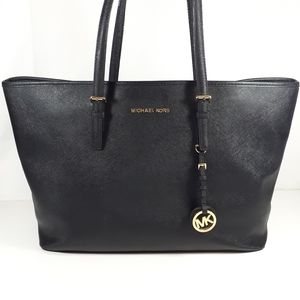 Michael Kors Jet Set Aria Tote Laptop Purse Black